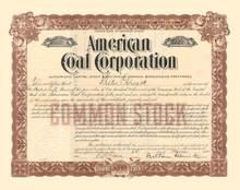 American Coal Corporation 1915