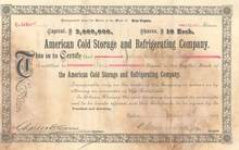 American Cold Storage and Refrigerating Company 1889