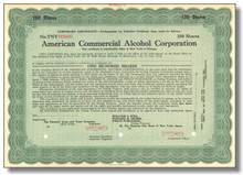 American Commercial Alcohol Corporation - 1933
