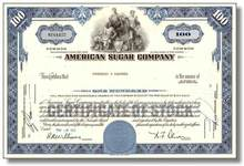 American Sugar Company Stock ( Original Dow Average Company )