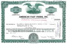 American Fast Foods, Inc.