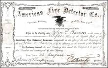 American Fire Detector Co. 1867 - New York