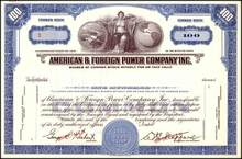 American & Foreign Power Company Inc.