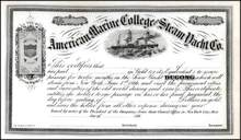 American Marine College and Steam Yacht Co. 1866