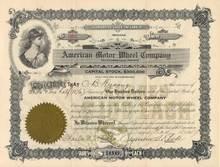 American Motor Wheel Company 1917