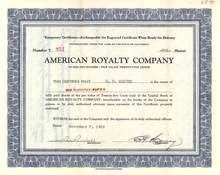 American Royalty Company 1929 - California