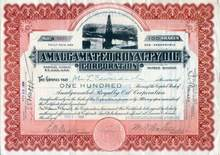 Amalgamated Royalty Oil Corporation 1920