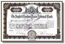 Anglo & London Paris National Bank 1920's - California