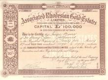 Associated Rhodesian Gold Estates 1899