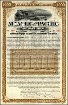 Atlantic and Pacific Railroad Company 1887