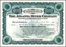 Atlanta Mines Company 1916 - Turtle Vignettes - Arizona
