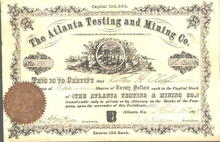Atlanta Testing and Mining Company 1877