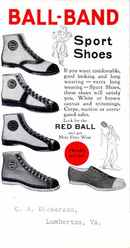 Ball-Band Sport Shoes - Old High Top Tennis Shoes 1920's