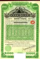 Beech Creek Railroad Company 1886