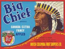 Big Chief Brand Crate Label