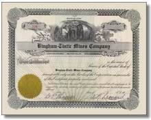 Bingham-Tintic Mines Company - Utah