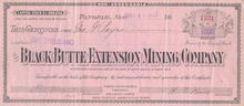 Black Butte Extension Mining Company - Tonopah, Nevada