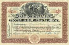Black Hawk Consolidated Mining Company 1907