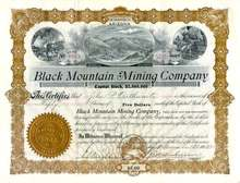 Black Mountain Mining Company - Territory of Arizona 1905