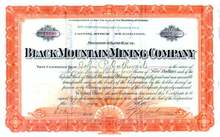 Black Mountain Mining Company 1907 - Territory of Arizona