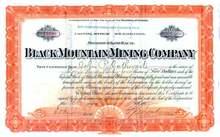 Black Mountain Mining Company 1907 - Territory of Arizona