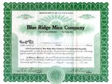 Blue Ridge Mica Company 1929