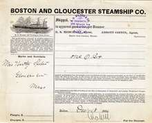 Boston and Gloucester Steamship Company 1886