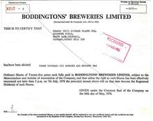 Boddingtons' Breweries - 1978 UK