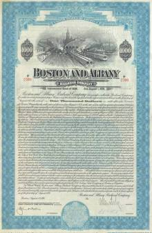 Boston and Albany Railroad Company 50 Year Bond - 1928