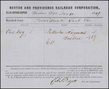 Boston and Providence Railroad Corporation 1849