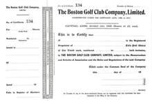 Boston Golf Club Company, Limited