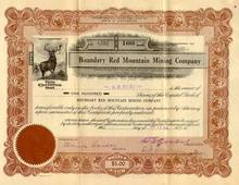 Boundary Red Mountain Mining Company 1923 - Washington State