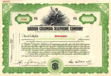 British Columbia Telephone Company  ( Now BC TEL )