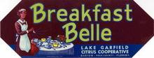 Breakfast Belle Brand of Citrus