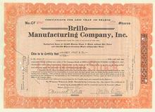 Brillo Manufacturing Company signed by Creator of Brillo Pad