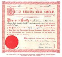 British National Opera Company 1921