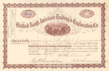 British North American Trading & Exploration Co. 1898 - New York