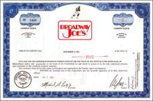 Broadway Joe's ( Joe Namath 1969 - New York Jets Super Bowl Hero