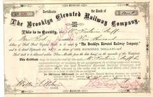 Brooklyn Elevated Railway Company - 1880 ( Brooklyn Bridge Railway )