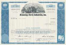 Browning-Ferris Industries Stock - BFI Waste Disposal Company