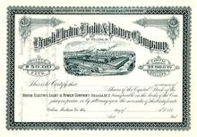 Brush Electric Light & Power Company - Montana Territory 1880's - Early General Electric Company