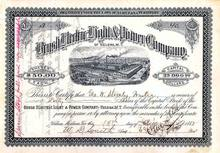 Brush Electric Light & Power Company 1882 - RARE Issued Certificate - Early G.E. Company