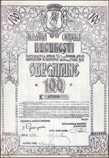 Bucurest Romanian Bond 1921