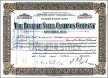 Bush Family Company signed by President's Great Grandfather - 1920's