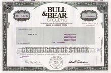 Bull & Bear Group, Inc 1985