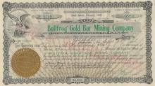 Bullfrog Gold Bar Mining Company 1906