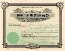 Bunker Hill Oil Producing Company 1920