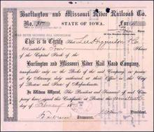Burlington and Missouri River Railroad Co. 1870