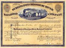 Burlington and Missouri River Railroad Company 1873