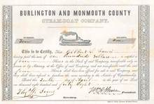 Burlington and Monmouth County Steamboat Company - 1848 New Jersey